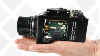 Palm-sized Ventus OGI optical gas imaging camera