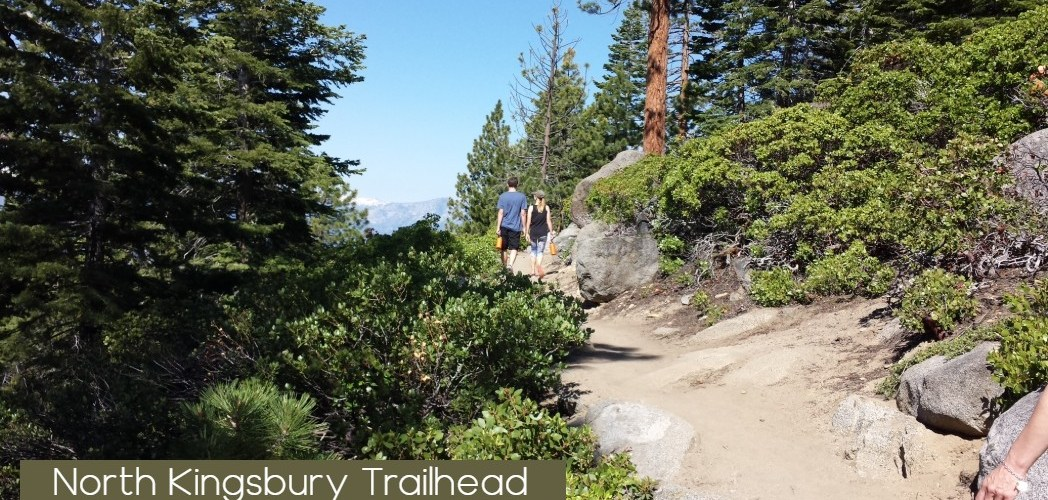 Couple Walking on North Kingsbury Trail south Lake Tahoe