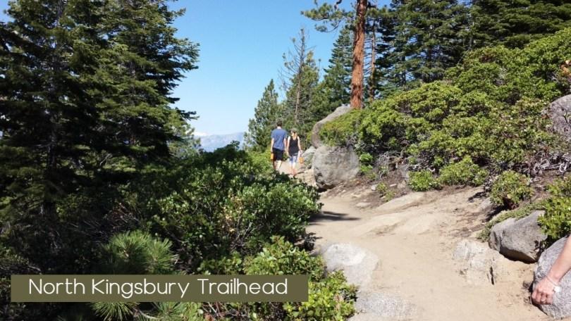 Couple Walking on North Kingsbury Trail south Lake Tahoe