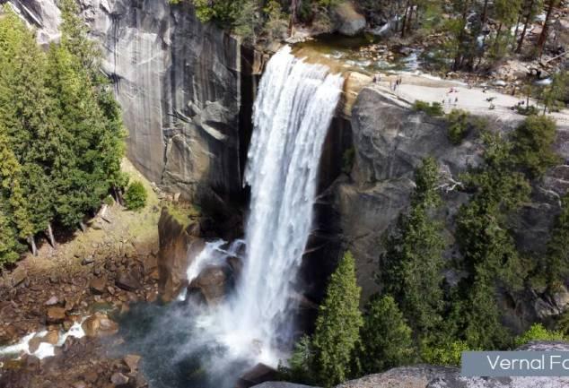 Vernal Falls Yosemite National Park hikes