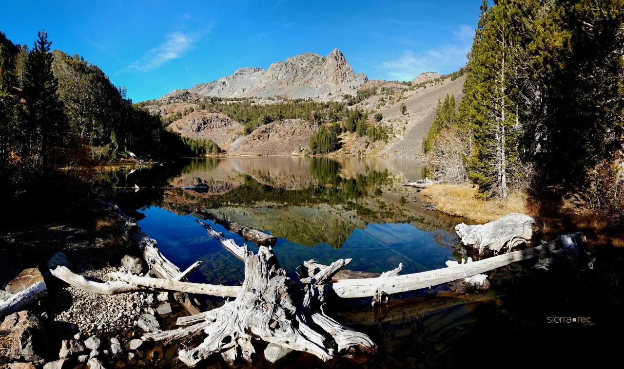 Blues Lake morning Reflection Virginia Lakes basin