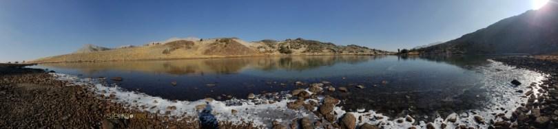 Upper Gaylor Lake Frozen in Yosemite National Park
