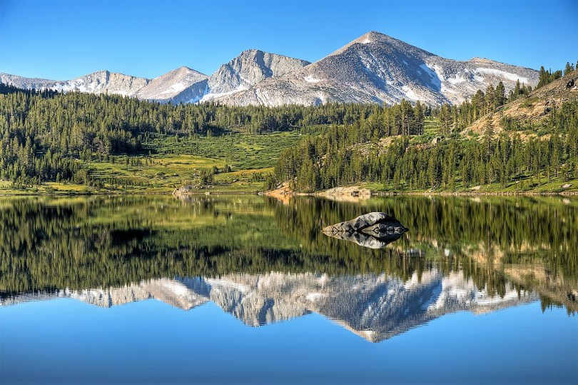 Mammoth Peak Reflecting On Tioga Lake 2