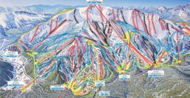 Mammoth Mountain Ski runs Front Side