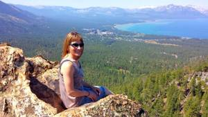 South Lake Tahoe from castle rock
