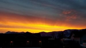 Sunset carson valley
