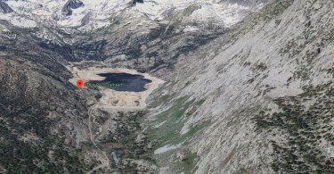 google 3d map south lake bishop pass inyo