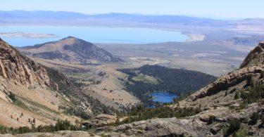 Ansel Adams Wilderness- Lower Sardine Lake and Mono Lake
