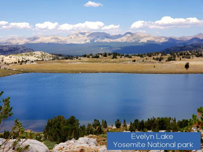 Evelyn Lake yosemite national park