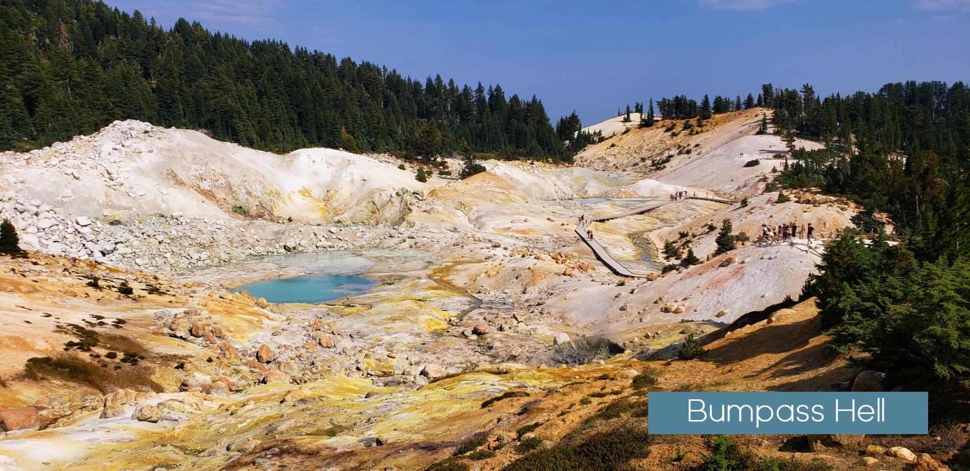 Bumpass Hell Lassen volcanic national park