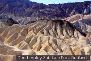 Zabriskie Point badlands Death Valley