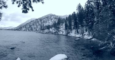 Lake Tahoe black and white