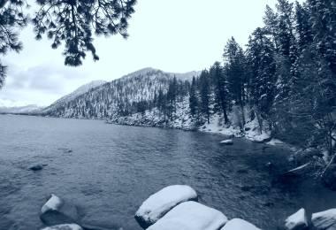 Lake Tahoe black and white