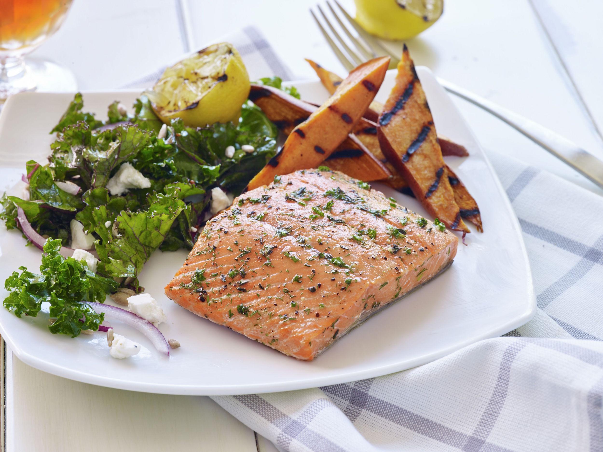 cedar-plank-alaska-salmon-with-roasted-sweet-potatoes