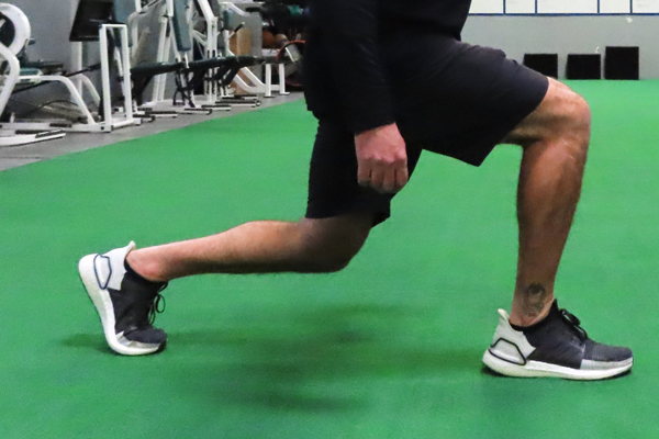 Close-up of accurate lunge form