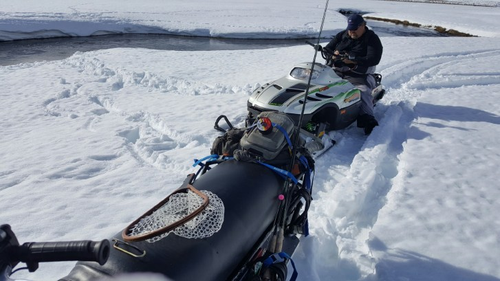 Snowmobiles on the Upper Owens River