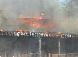 Photo of back of motel by Ron Alexander