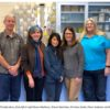 At the MCWD Laboratory, from left to right Bruce Medhurst, Sharon Dehmlow, Christine Sotelo, Diane Anderson and Blair Hafner