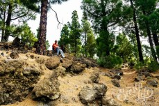 Привал в канарском лесу по пути к цветущему миндалю
