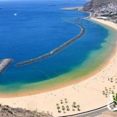 Общий вид пляжа Лас Тереситас