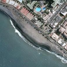 Пляж Хонда на карте