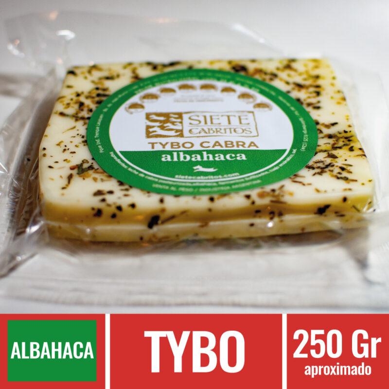 Siete Cabritos, Queso de Cabra, Quesos, Gourmet, Productos Caprinos, Tybo, Albahaca