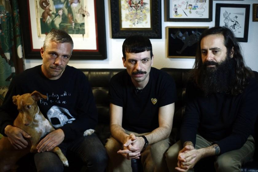 Rubén, Luisjo y Michi, los tres integrantes de Rubenimichi en su estudio