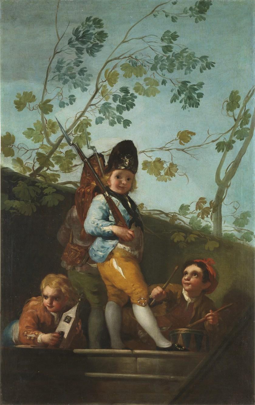 """""""Muchachos jugando a soldados"""", de Goya"""
