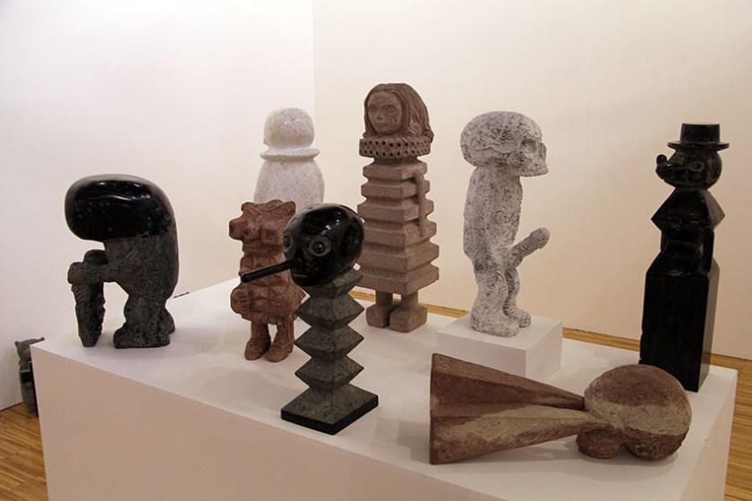 Esculturas de Stefan Rinck en el estand de Galería Alegría