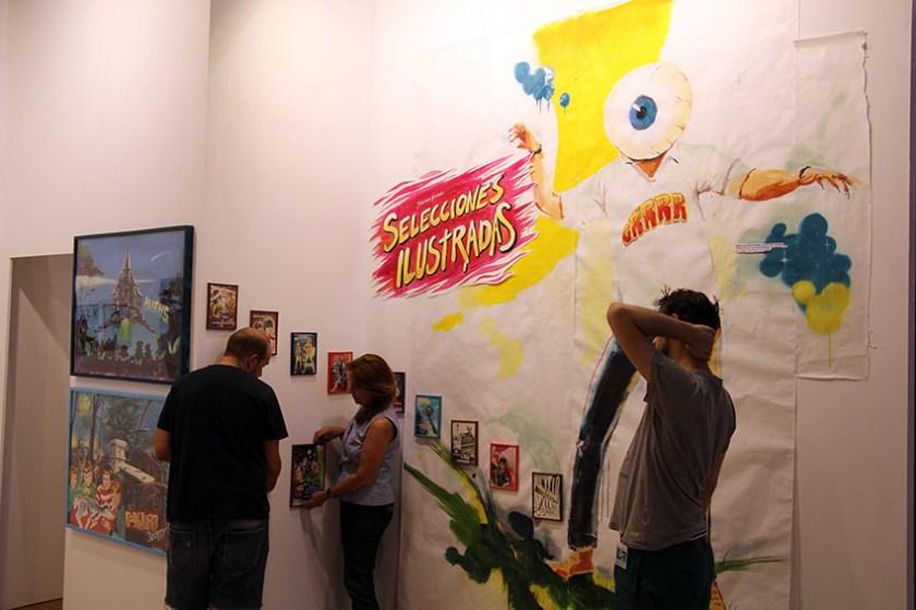 Blanca Soto completa el montaje de las obras de Jonathan Notario
