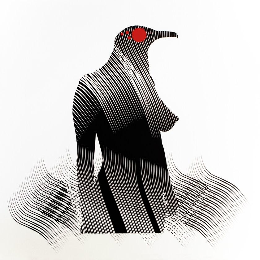 """Obra de Carlos Amorales de """"El tormento y el éxtasis"""", en Es Baluard"""