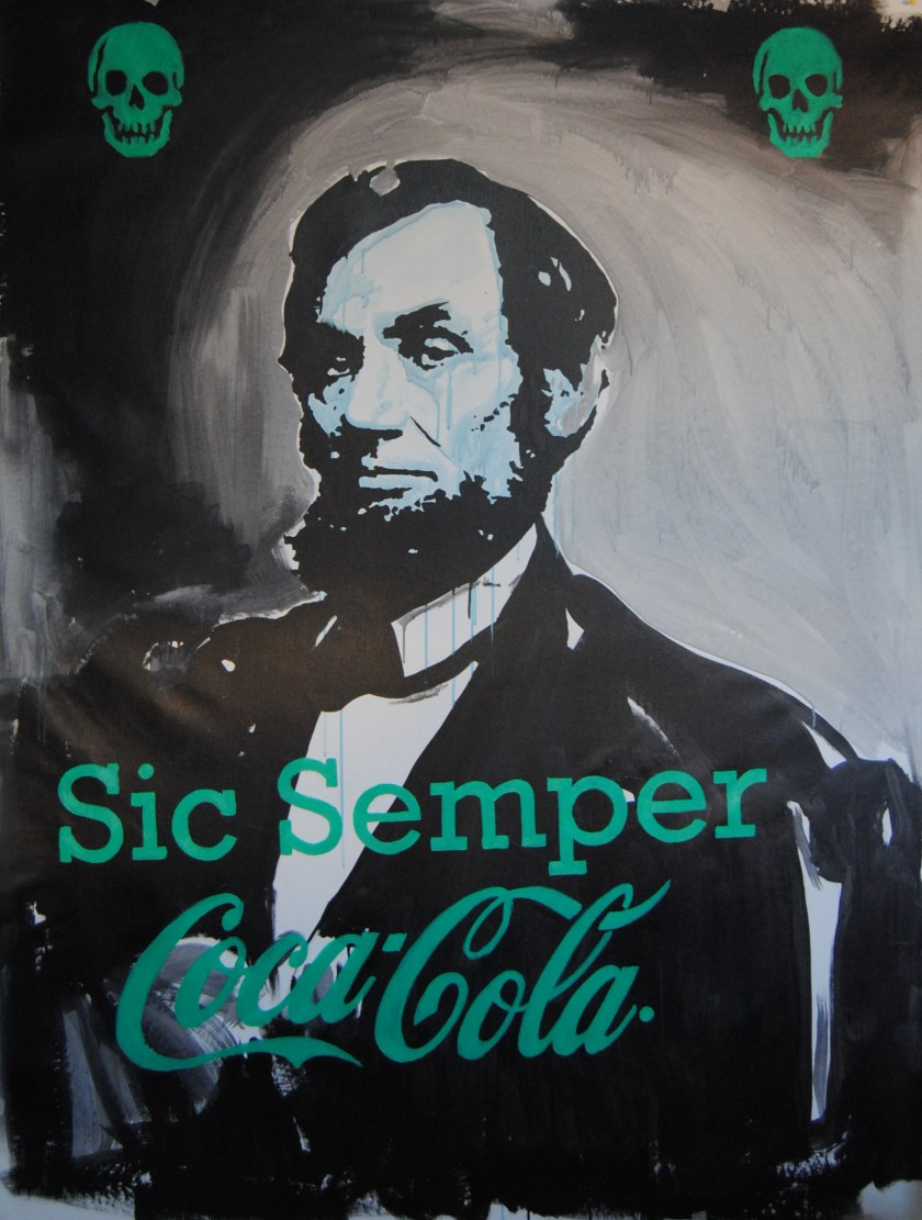 """""""Sic Semper Coca-Cola"""", óleo y esmalte sobre lienzo"""