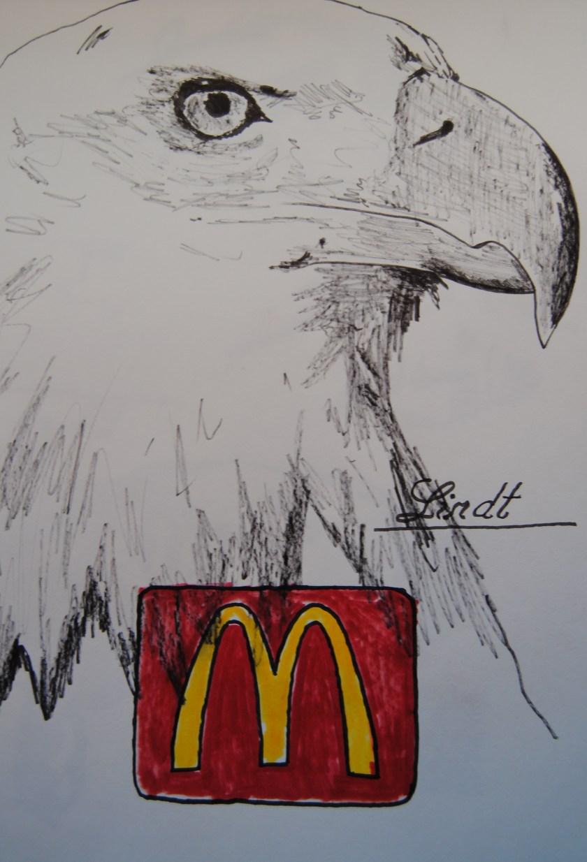 """""""American Crispy Eagle"""". Rotulador sobre papel"""