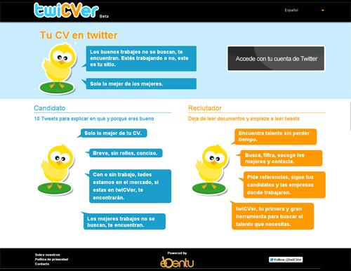 Twicver te permite hacer tu CV en tan solo 10 tweets (2/6)