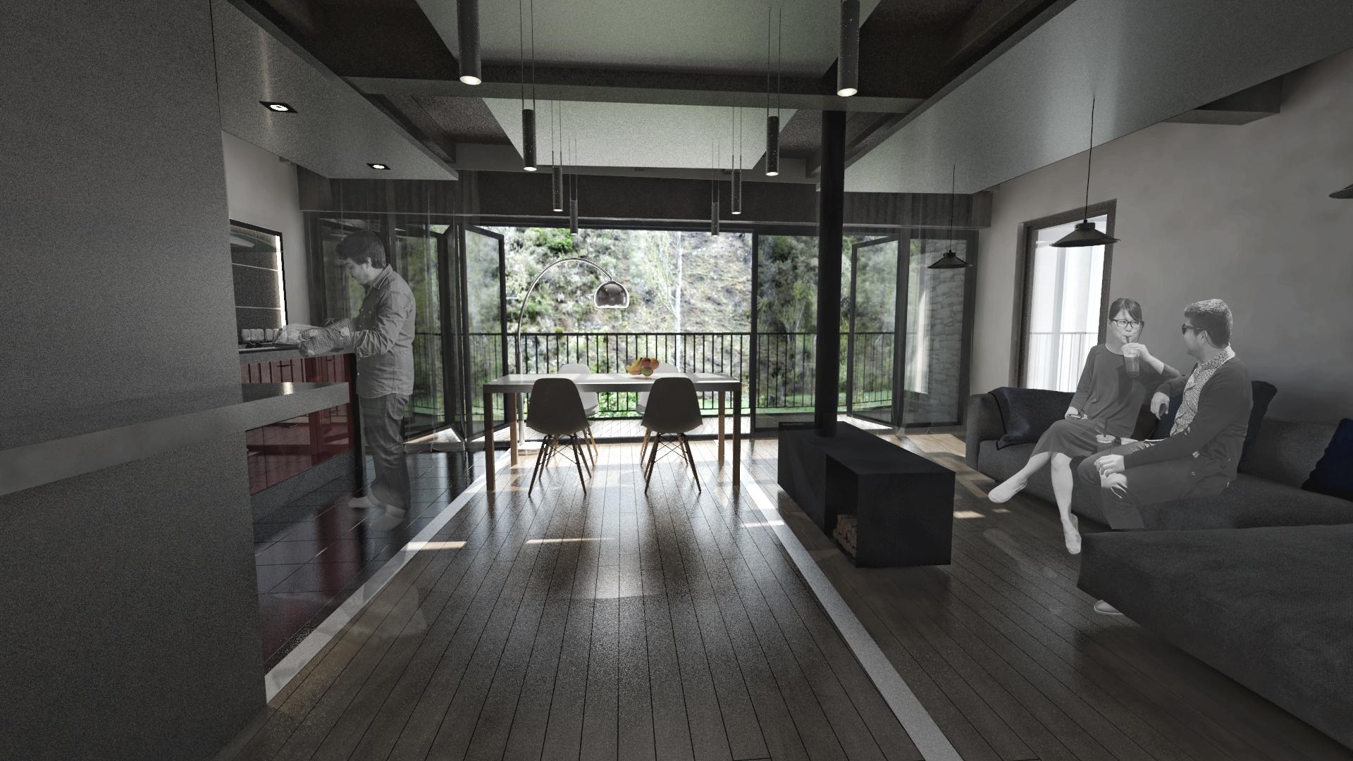 sietequince proyecto vivienda rural diseño p1 salon