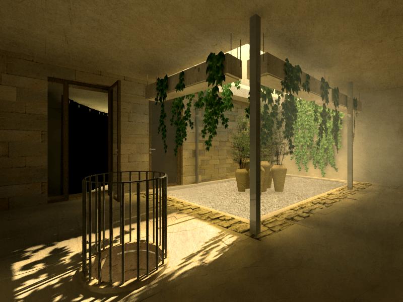 patio pozo