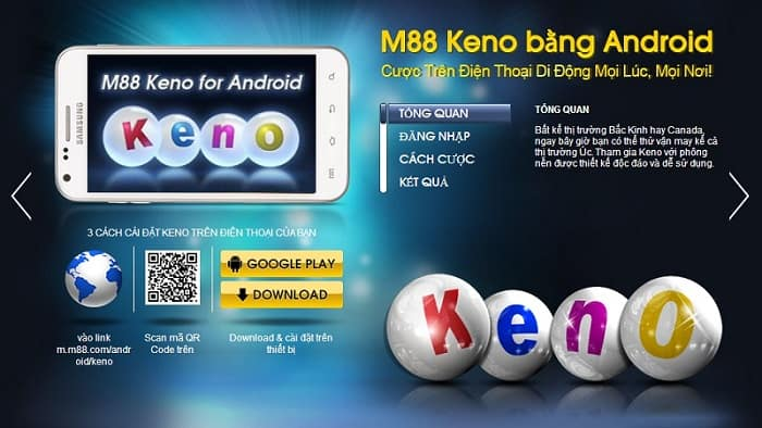 Xổ số M88 hay còn gọi là M88 Keno