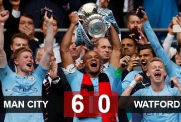 Giành chiến thắng áp đảo, Man City hoàn tất hat-trick danh hiệu
