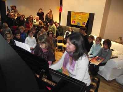 professeur piano, élève piano, Téléthon 2010