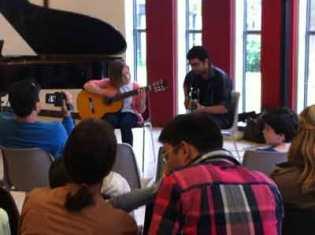 professeur, eleve, guitare