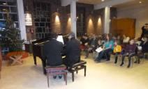 Professeur et son élève pour le concert de Noel 2014