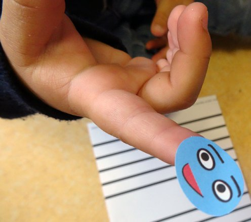 note sur doigt