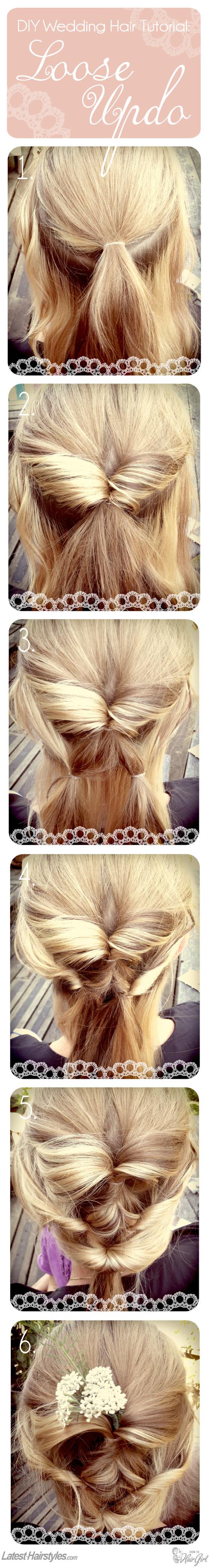 DIY Wedding Hair Tutorial: A Beautifully Loose Updo