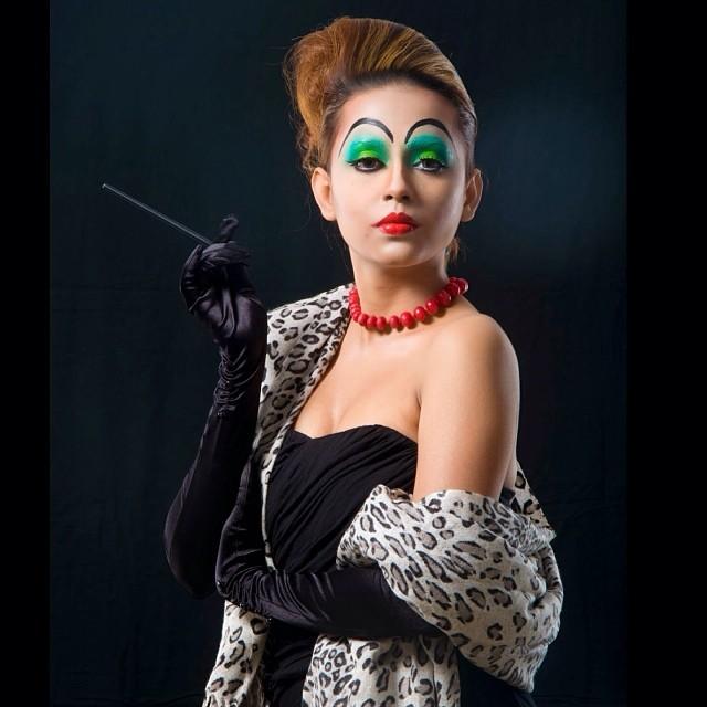 """Cruella Deville inspired makeup for """"Stop Animal Cruelty"""" campaign"""