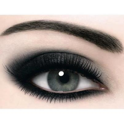 Black-Silver smokey eye