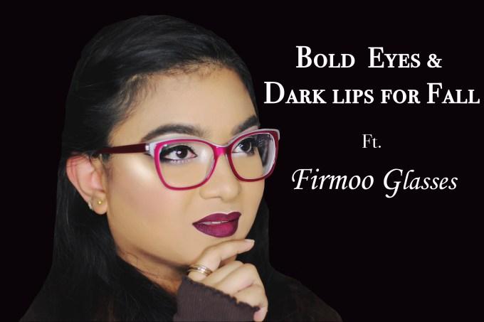 Fall Makeup: Bold Lips & Cut Crease eyes ft.  Firmoo Glasses