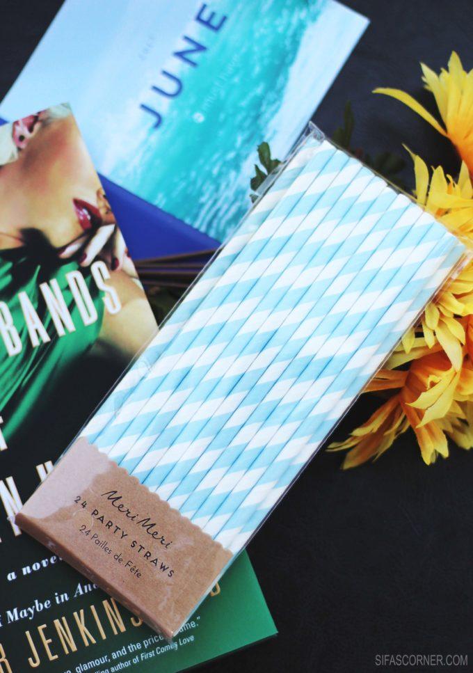June 2017 POPSUGAR Must Have Box-MERI MERI Blue & White Party Straws
