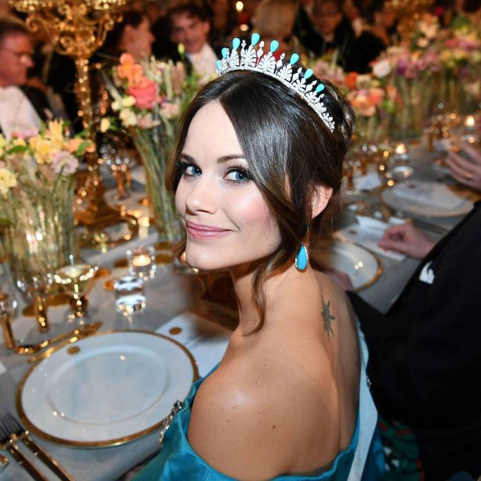 Princess Sofia of Sweden in her crown