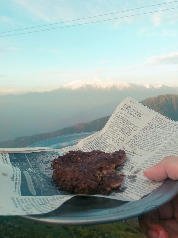 Beef Chapli Kebab in mountains