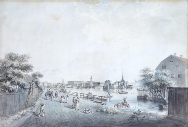 Prospect of Stockholm_school of johan fredrik martin(1755-1816)_